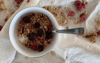 Himbeer-Granola ohne Zucker