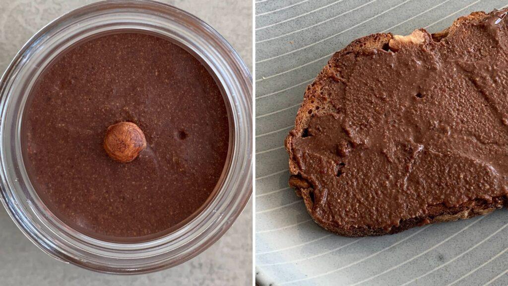 Haselnuss-Schokoladenaufstrich ohne Zucker
